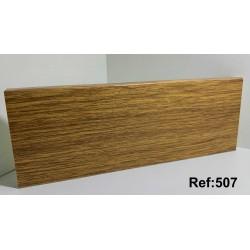 Rodapé em PVC Expandido Maciço 70x14mm Perclic -Ref:507
