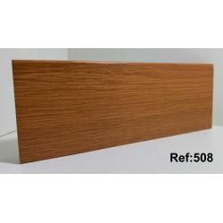 Rodapé em PVC Expandido Maciço 70x14mm Perclic -Ref:508