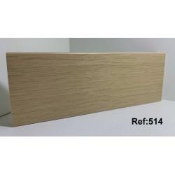 Rodapé em PVC Expandido Maciço 70x14mm Perclic -Ref:514