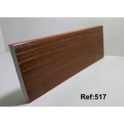 Rodapé em PVC Expandido Maciço 70x14mm Perclic -Ref:517