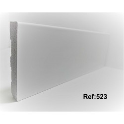 Rodapé em PVC Expandido Maciço 70x14mm Perclic -Ref:523