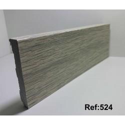 Rodapé em PVC Expandido Maciço 70x14mm Perclic -Ref:524