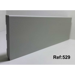 Rodapé em PVC Expandido Maciço 70x14mm Perclic -Ref:529