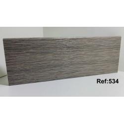 Rodapé em PVC Expandido Maciço 70x14mm Perclic -Ref:534