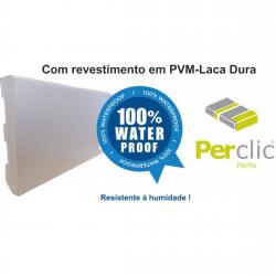 Rodapé em PVC Expandido Maciço 70x14mm Perclic