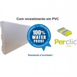 Rodapé em PVC Expandido Maciço 100x14mm Perclic